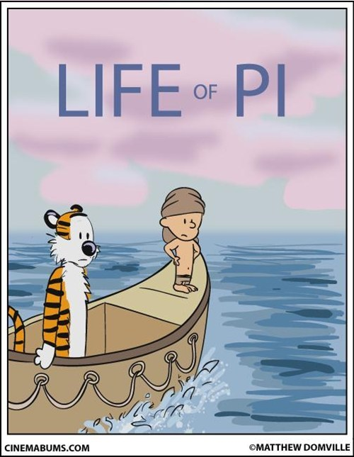 crossover,calvin and hobbes,life of pi,Fan Art