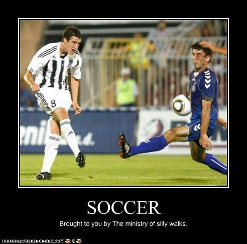 SOCCER Brought to you by The ministry of silly walks.