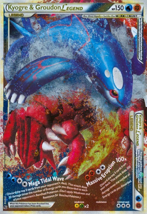 TCG kyogre legendaries pokemon cards groudon