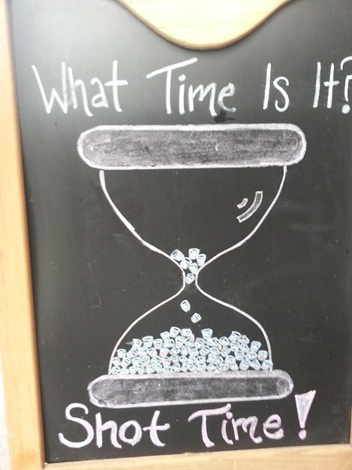 what time is it chalkboard shot time favorite time - 6973074176