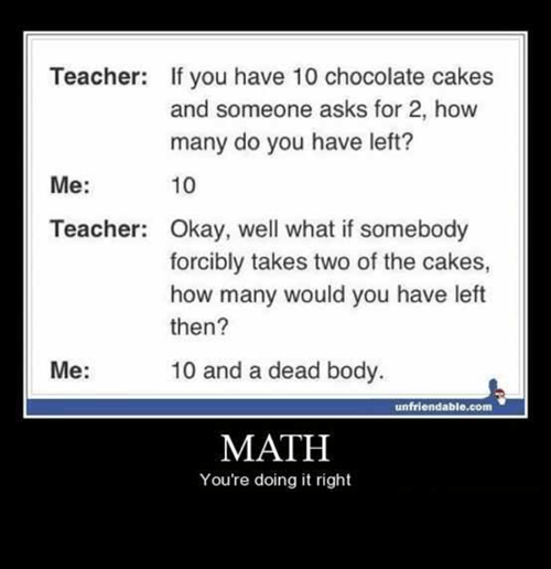 all mine,cakes,teacher,math