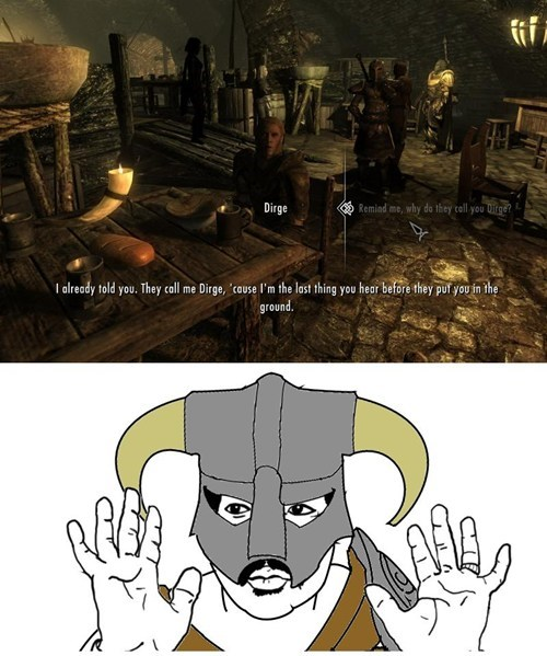 Badass Memes dirge Skyrim - 6973181696