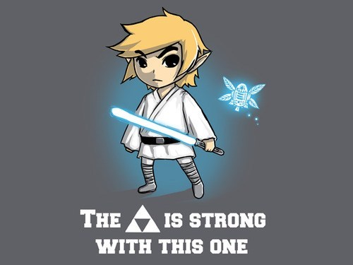 star wars,legend of zelda,crossover,Jedi