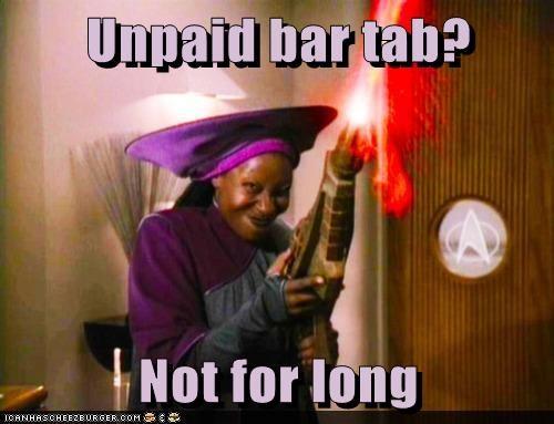 bar firing phaser tab not for long angry whoopi goldberg Guinan - 6973378048