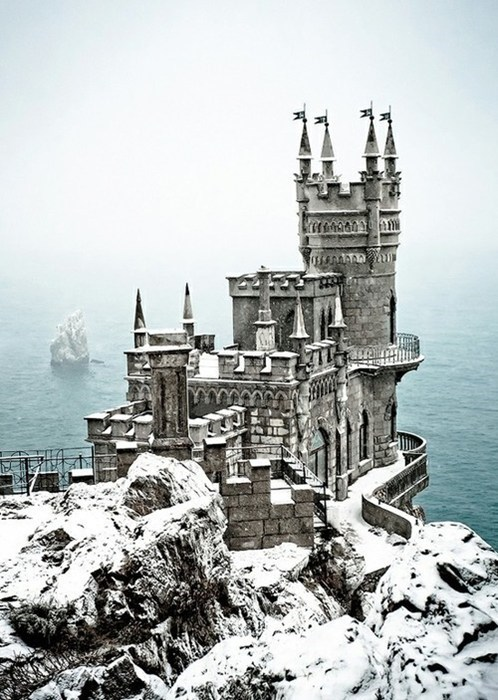 castle snow magical winter destination WIN! g rated - 6973520640
