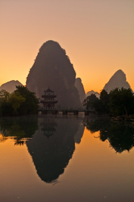 China sunrise mountain