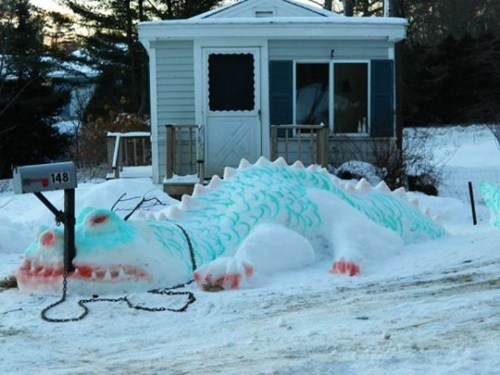 dragon snow design snow sculpture g rated win - 6973585152