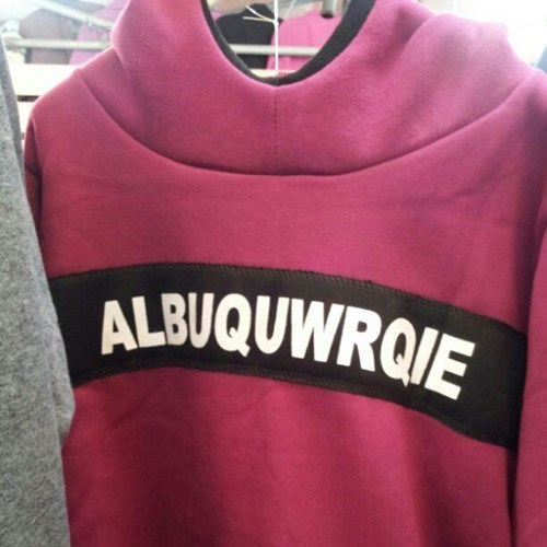 engrish,sweater,Albuquerque,spelling