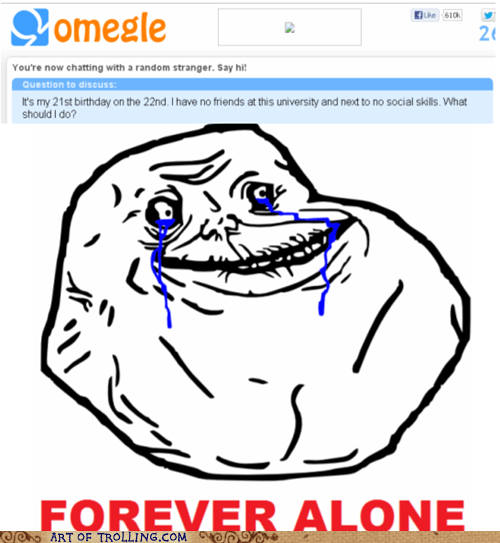 Sad,Omegle,forever alone,birthday