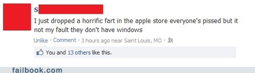 apple store windows apple fart failbook g rated