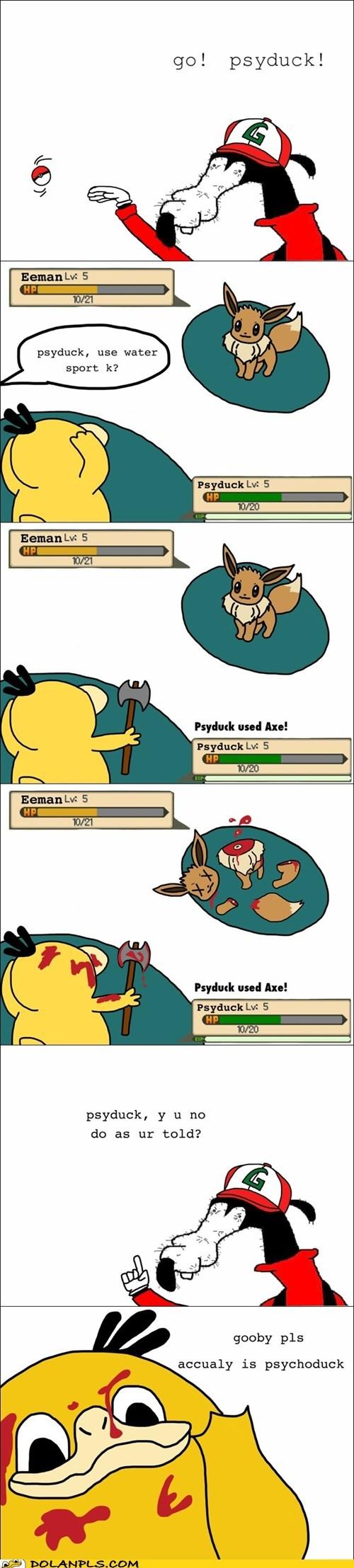 Pokémon,gooby,water sports,Psyduck,Pokémemes,pokememe