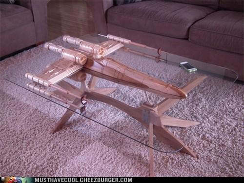 star wars table wood handmade glass - 6974478336