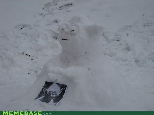 star wars IRL snowmen yoda - 6974621952