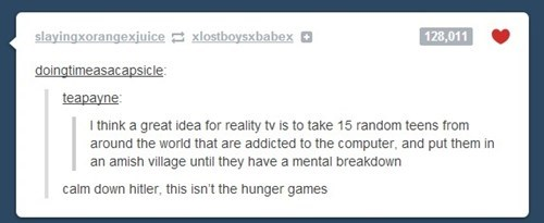 kids technology addicted hunger games