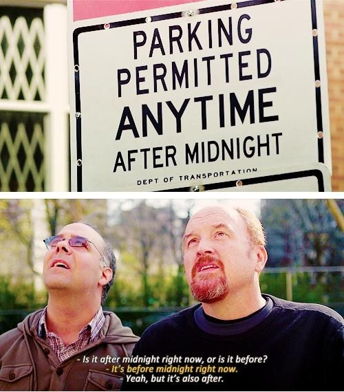 midnight,louie ck,confused,parking