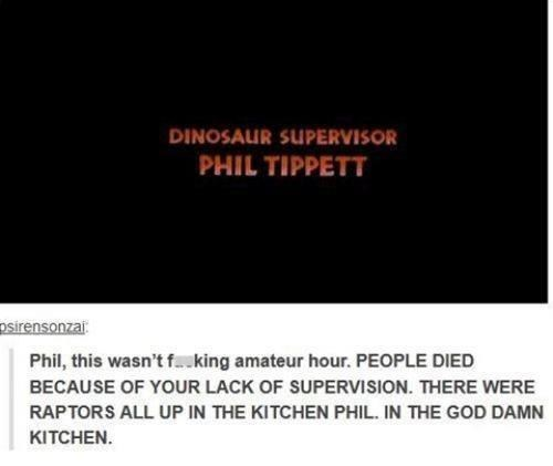 amateur hour phil tippett jurassic park raptors monday thru friday - 6974796288