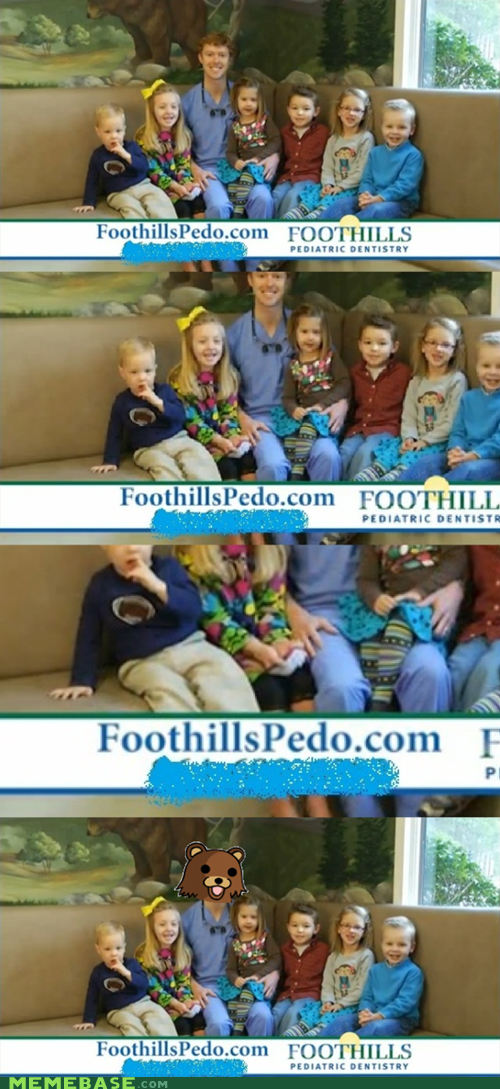 dentist Pediatrics pedo bear advertisment - 6974840320