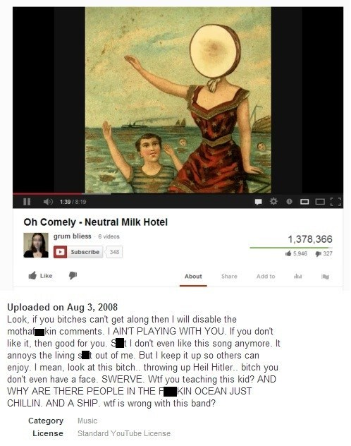 Neutral Milk Hotel,Music,comments,youtube,band