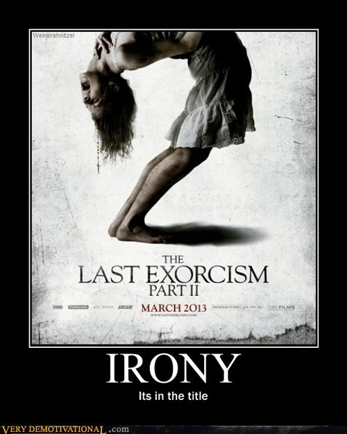 exorcism,part 2,title,irony