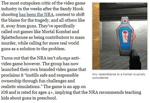 news wtf NRA ironic video game you got to be kidding me - 6974912768