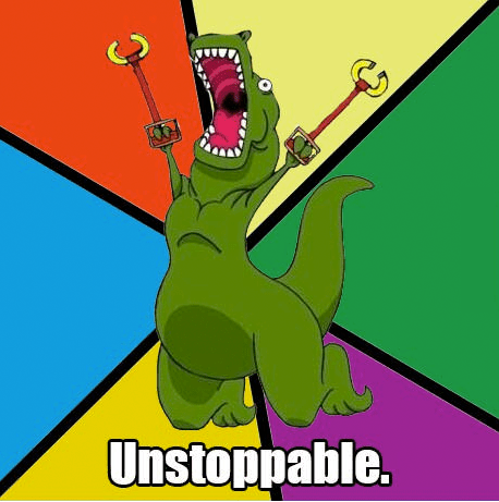 unstoppable arms t rex