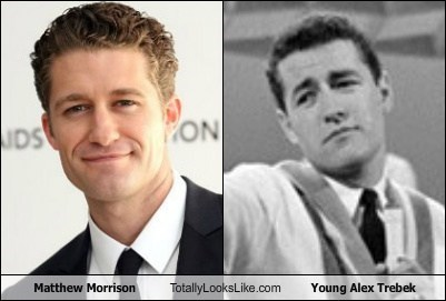 Jeopardy Alex Trebek matthew morrison glee