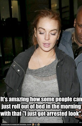 roll out bed drunk look lindsay lohan style arrested