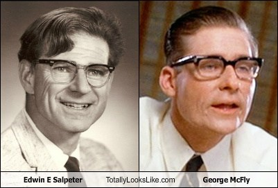 Edwin E Salpeter Totally Looks Like George McFly