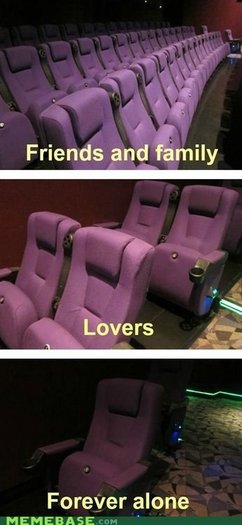 forever alone,theaters,movie theaters