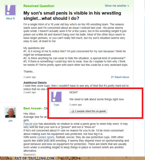 Awkward,yahoo answers,p33n,mom,parents,wtf?!