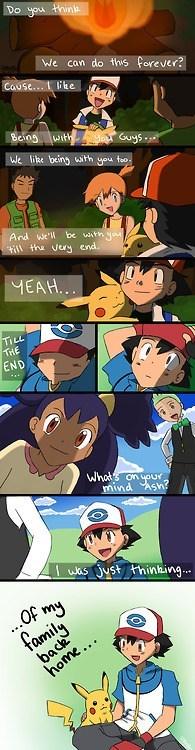 Sad Pokémon anime comics friends family - 6975367936