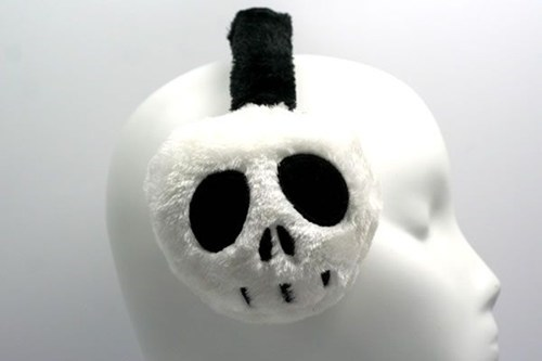 Plush outerwear skull earmuffs - 6975523328
