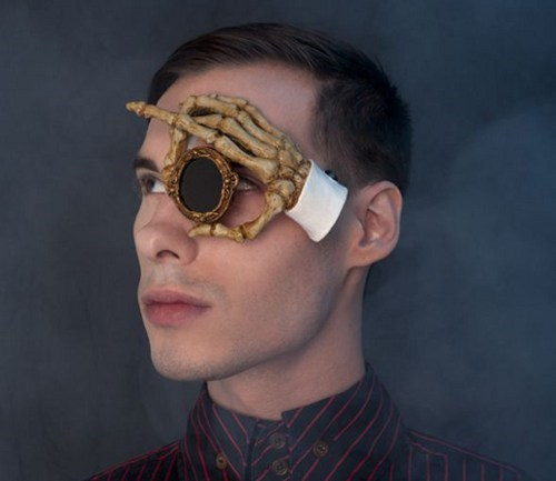 monocle,one of a kind,fashion,Steampunk,custom,skeleton,style,hand,if style could kill