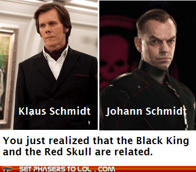 first class,tie-in,Red Skull,x men,captain america,Hugo Weaving,michael fassbender