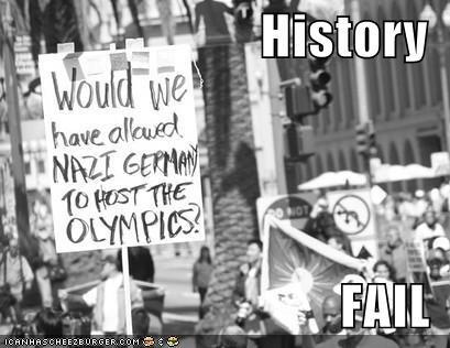 FAIL nazis olympics Protest - 697566976