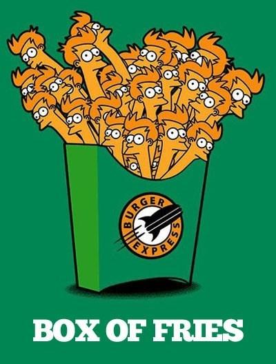 box literalism fries futurama fry - 6975691008
