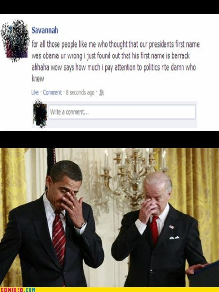 facepalm president facebook barack obama dumb - 6975849984