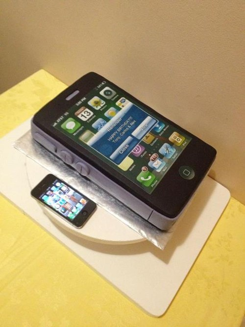 cake phone nerdgasm dessert iphone g rated AutocoWrecks - 6975852544