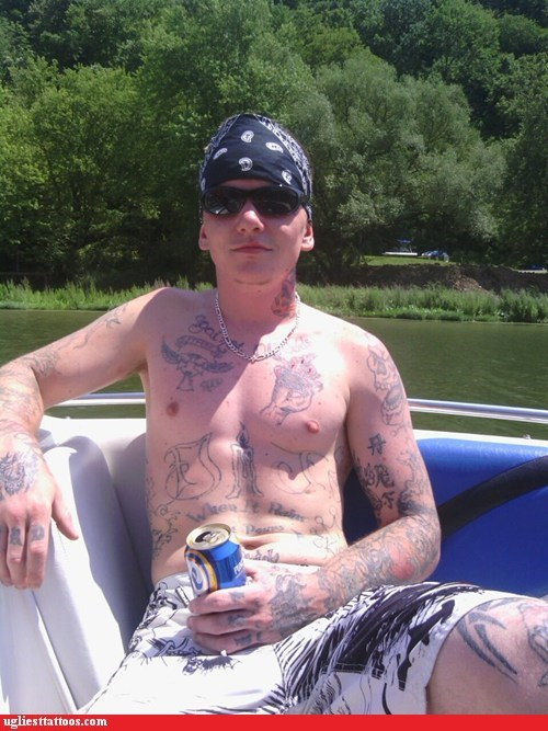 not one good tattoo,tattoos everywhere,boat
