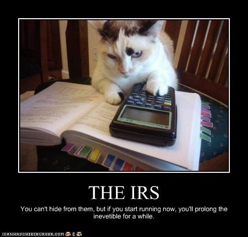 THE IRS You can't hide from them, but if you start running now, you'll prolong the inevetible for a while.