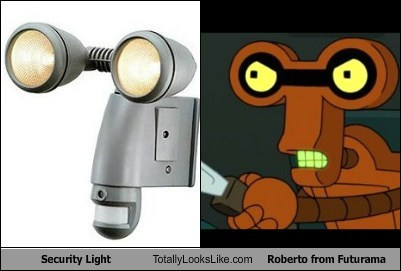 roberto security light stab knife robot TLL futurama