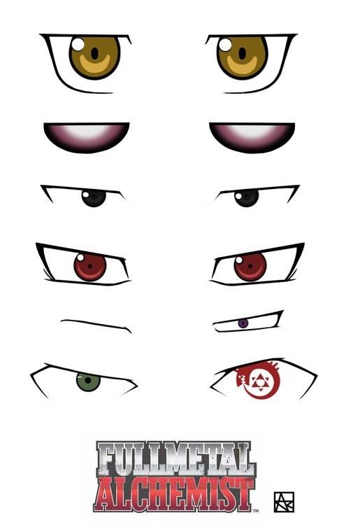 anime fullmetal alchemist eyes - 6976392192
