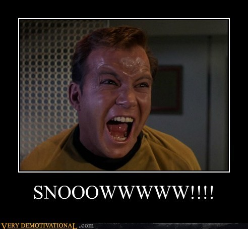 Captain Kirk Winter Is Coming snow