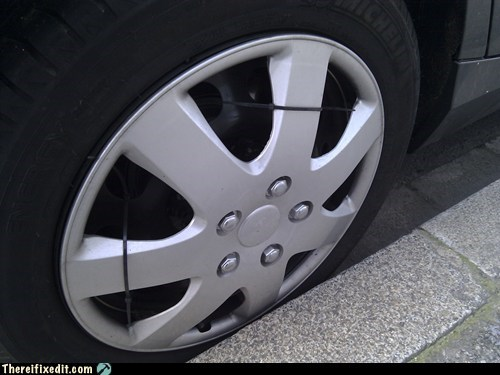 zipties,wheel,hubcap,tire
