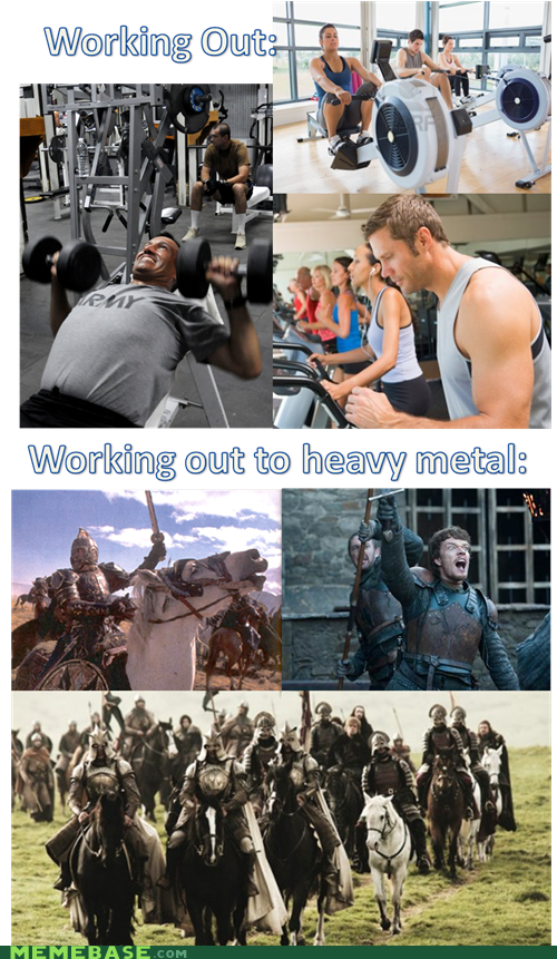 Music heavy metal working out - 6976668672