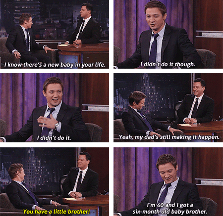 jimmy kimmel,actor,TV,Jeremy renner,funny