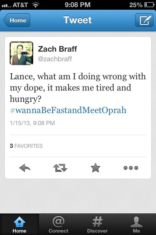 blood doping,Lance Armstrong,Zach Braff,oprah,after 12