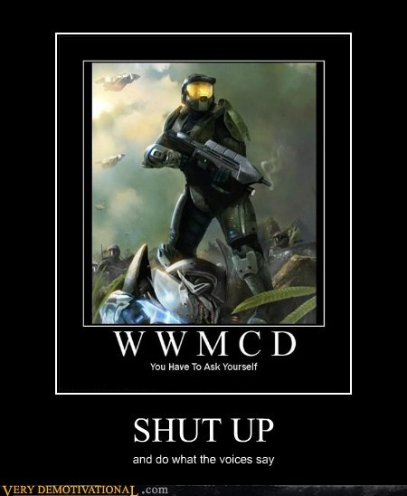 shut up voices master chief halo