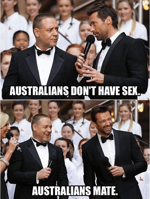 ICWUDT sex mate slang Australians hugh jackman Russell Crowe - 6977565440