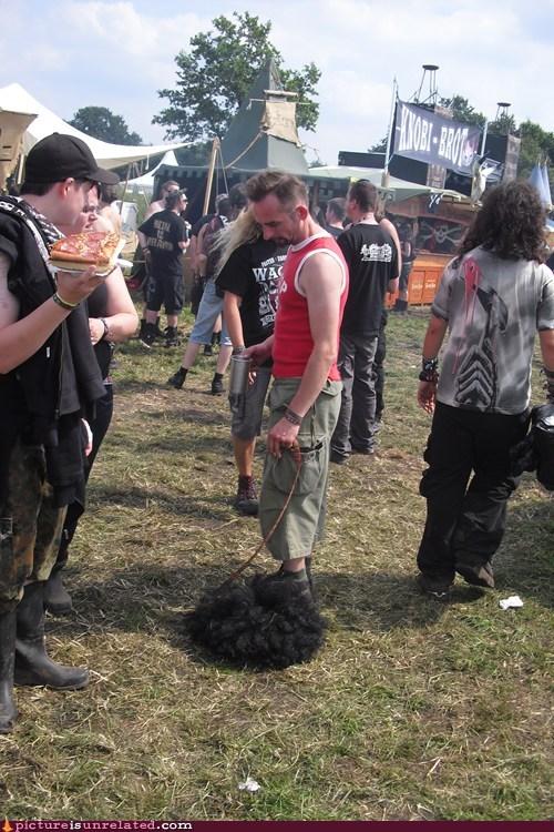 afro walking the dog wig - 6977619456